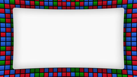Colored rectangles frame animated background Animation