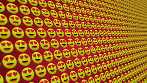 Lovely happy smile icons pattern animated background Animation