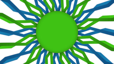 Green frame ellipse banner on wavy shapes animation Animation