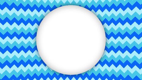 White frame ellipse banner on wavy blue shapes animation Animation