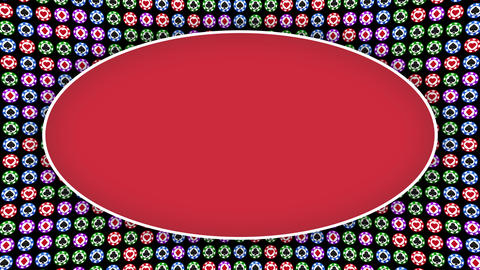Poker chips hearts diamonds clubs spades red frame Animation