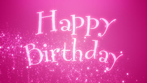 Happy Birthday Fairy Background Animation