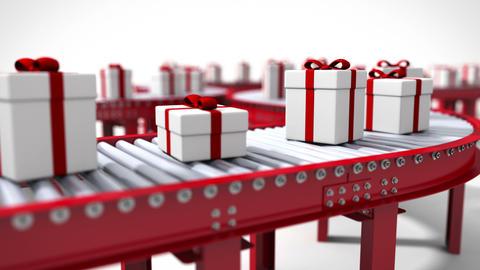 Animated Christmas Factory Animation