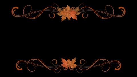 Autumn Filigree Element Animation