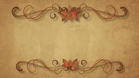 Autumn Filigree Background Animation
