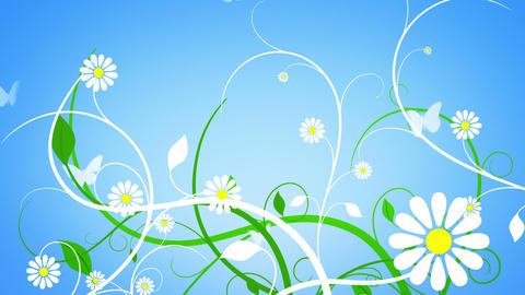 Loopable Flower Vines Background Animation
