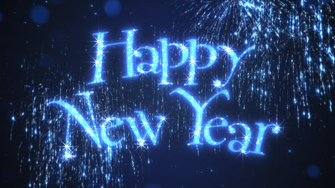 Happy New Year Background Animation