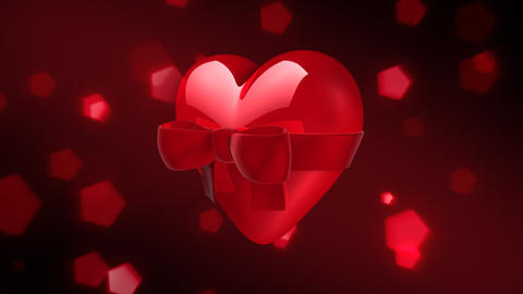 Valentine Heart with Bow Animation