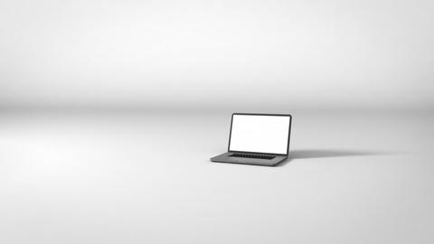Laptop on White Background Animation