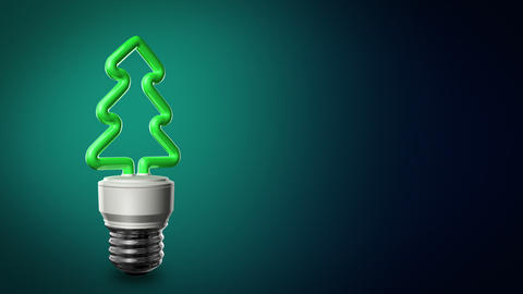 Loopable CFL Bulb In the Shape of a Christmas Tree Animation