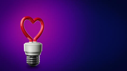 Loopable CFL Background Heart Love Animation