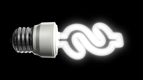 Compact Fluorescent Lightbulb Dollar Animation