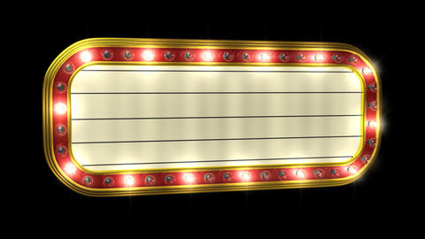 Animated Theater Marquee Stock Video Footage