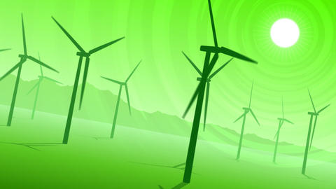 Loopable Wind Power Loopable Animation