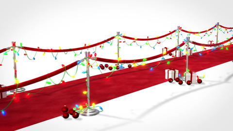 Loopable Red Carpet Christmas Stock Video Footage