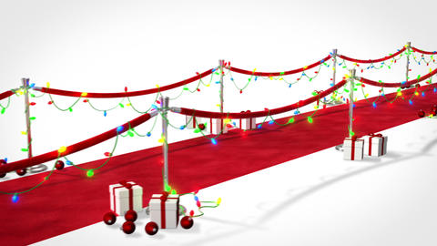 Loopable Red Carpet Christmas Animation