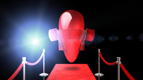 Loopable Red Carpet Heart CG動画素材
