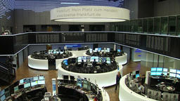 FRANKFURT STOCK EXCHANGE MULTI SCREEN STOCKS AND SHARES Footage