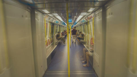 Short Film - walking in Hong Kong MTR, Hung Hom subway station Footage