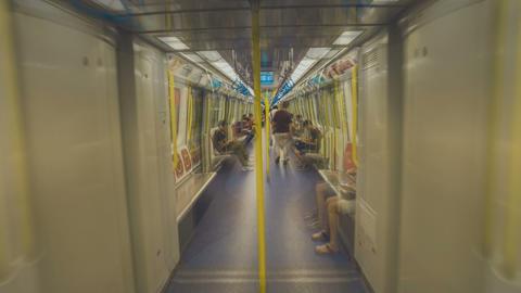 Short Film - walking in Hong Kong MTR, Hung Hom subway station Footage