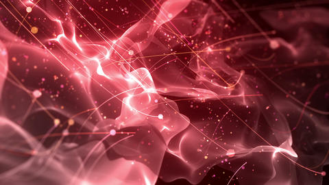 SHA Particle Flow BG Image Red Animation