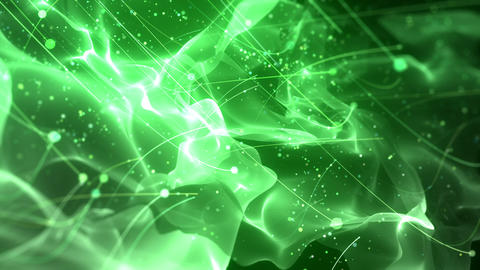 SHA Particle Flow BG Image Green Animation
