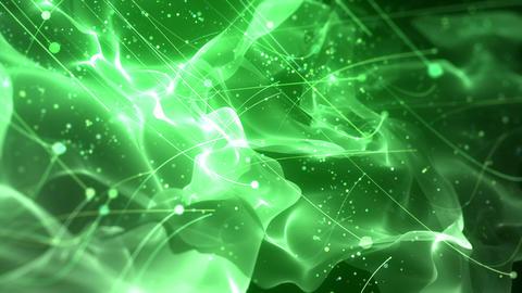 SHA Particle Flow BG Image Green CG動画