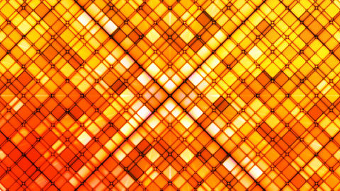 Broadcast Twinkling Cubic Diamonds, Red Orange, Abstract, Loopable, 4K Animation