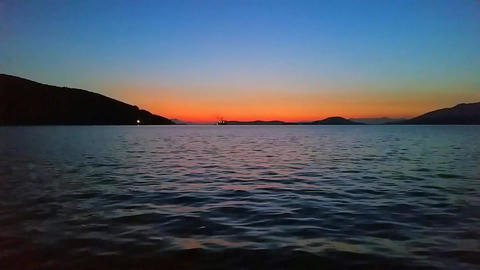 Ferry Boat at Night Time Lapse Footage