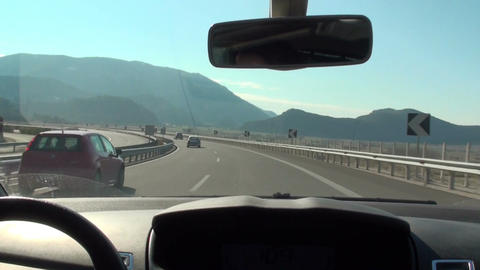 Driving on National Road of Korinthos-Tripoli Footage