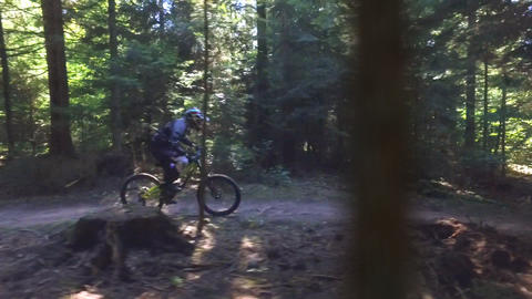Man on mountain bike Live Action