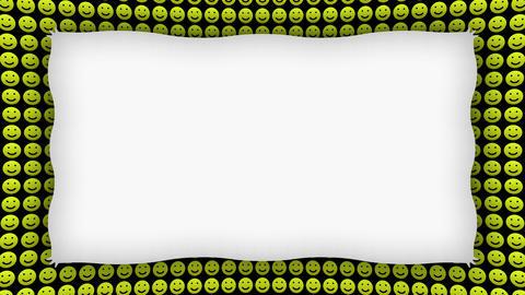 Happy smile icons frame animated background Animation