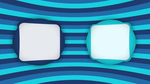 Double white frames banners on blue stripes animation Videos animados