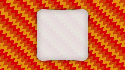 White frame rectangle banner on wavy orange shapes animation Animation