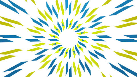 Rays and wavy shapes yellow blue animated background Animation