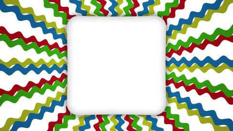 White frame rectangle banner on wavy shapes animation Videos animados