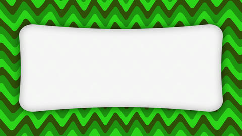 White frame rectangle banner on wavy green shapes animation Animation