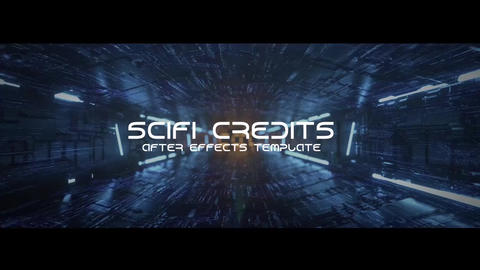 Scifi Tunnel Credits After Effects Template
