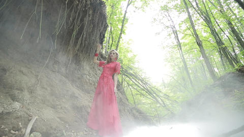 Young Woman In The Mystical Forest Live Action