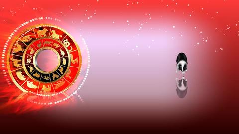 327 3d animated horoscope template with zodiac DOG symbol Animation