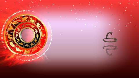 325 3d animated horoscope template with zodiac SNAKE symbol Animation