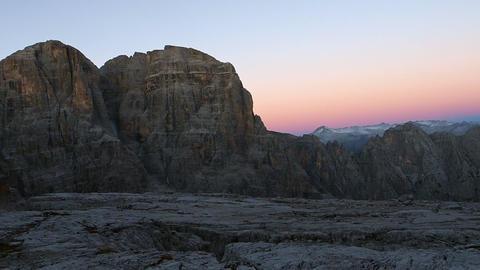 Brenta Dolomites in sunrise light, Italy, Europe Live Action