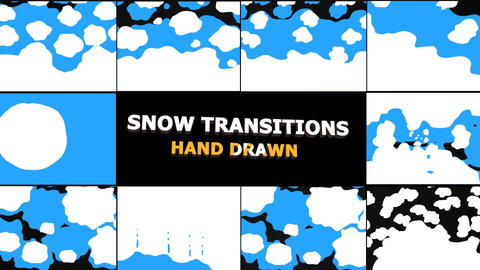 Snow Transitions Apple Motion Template