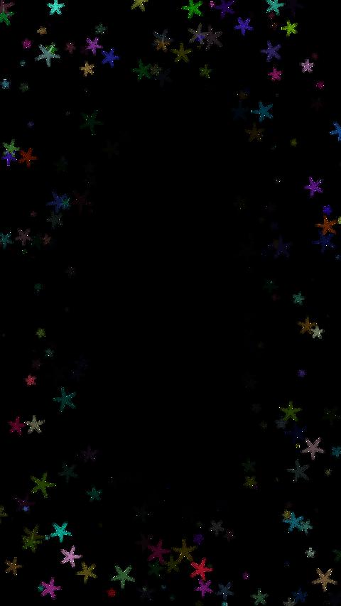 Around star particul(縦型 固定 アルファ付き) CG動画