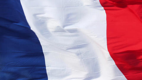 French Flag Footage