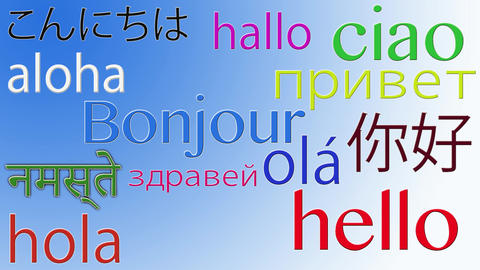 Hello in Different languages 4K Footage