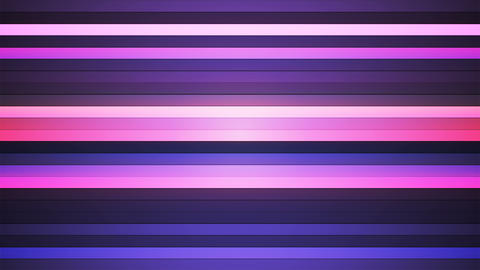 Broadcast Twinkling Horizontal Hi-Tech Bars, Purple, Abstract, Loopable, 4K Animation