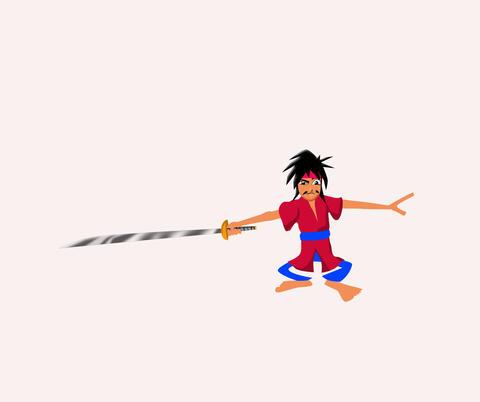 Samurai Swordsman CG動画素材