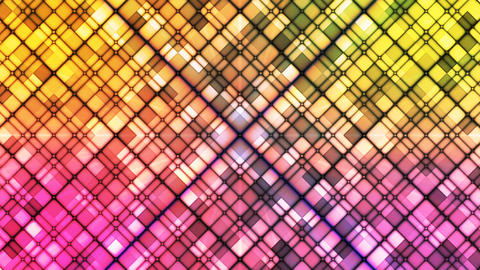Broadcast Twinkling Cubic Diamonds, Multi Color, Abstract, Loopable, 4K Animation