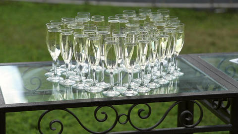 Glasses with champagne Image